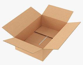 Cardboard box open mockup 01 3D model