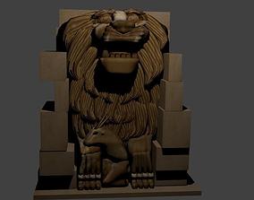 3D asset Lion Statue Palmyra