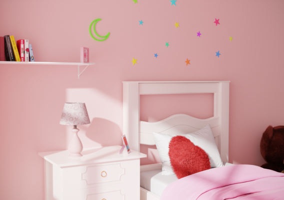 Girl Bedroom CGI
