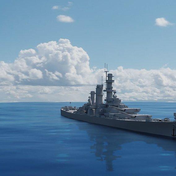 USS Alaska CB-1 3D Model