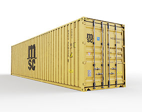 dock 40 feet High Cube MSC shipping container 3D