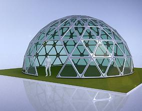 Triangulated 3D dome geodesic dome like