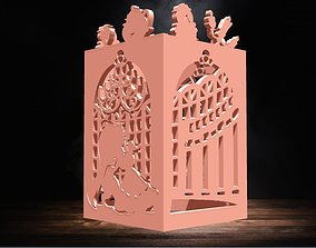 Beauty and Beast Lantern for led candle 3D print model