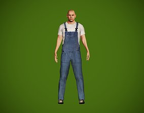 Worker character 3D model