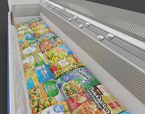 Store Floor Freezer refrigerator Store Display with 3D 1