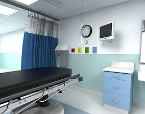 3D model laboratory Shock ICU Room
