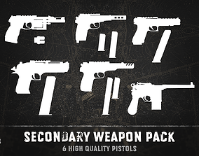 Secondary weapon pack 3D model