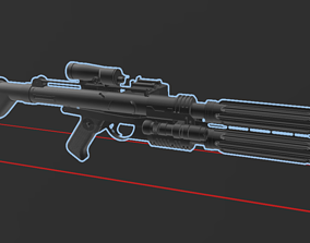 Star Wars - Fusil Blaster E22 - Scale 3D printable model 3