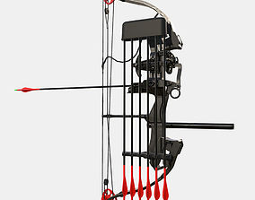 Low Poly Hunting and Archery Bow 3D asset