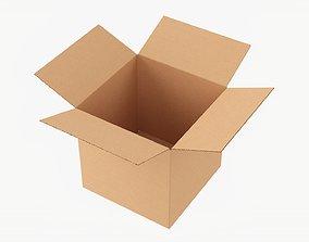 Cardboard box open mockup 03 3D model