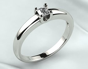 3D printable model Princess Gemstone Gold Ring