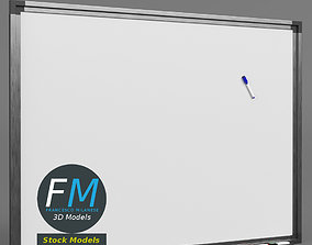 3D model Magnetic whiteboard with markers