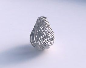 Vase oval with smooth cuts wide middle 3D printable model