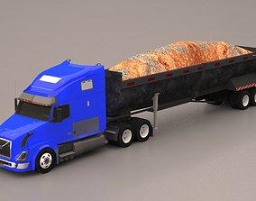 Truck 3D asset low-poly