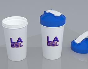 3D model haker bottle custom shaker protein bottle free 2