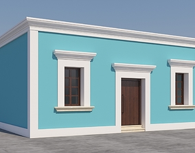 Mexican House 3D model windows