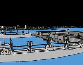 3D asset Port City Low Poly