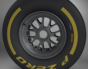 F1 tyre soft front 3D