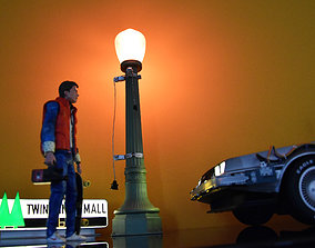 Street Light Bttf Did3D 1-8 Scale 3D Print