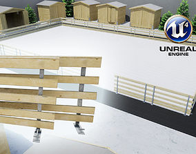 3D model Modular Ice Rink Fences