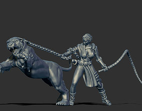 Lioness handler 35mm scale 3D print model