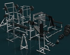 Gym Weight Collection 3D model