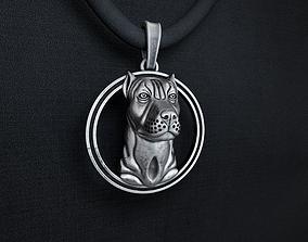 3D print model jewelry pit bull pendant