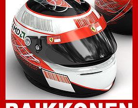 3D model Helmet F1 2008 2009 Kimi Raikkonen