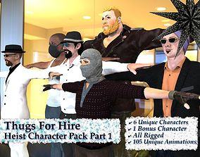 3D Thugs For Hire - Realistic Heist Character Pack
