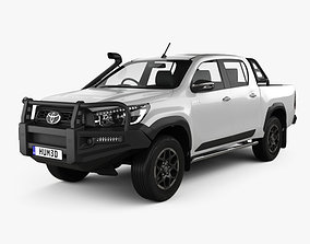 3D Toyota Hilux Double Cab Rugged 2020