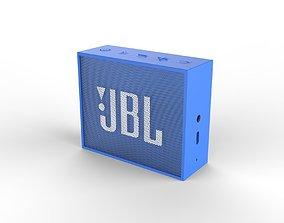 game-ready JBL GO1 Blue SPEAKER -customizable speaker 3d