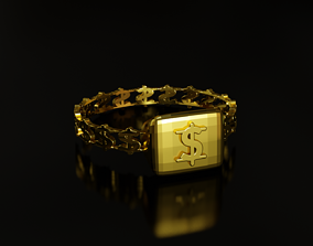 Dollar Sign Ring 3D printable model
