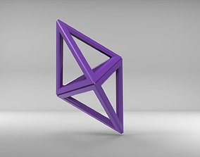 3D printable model Empty tetrahedron with chamfer