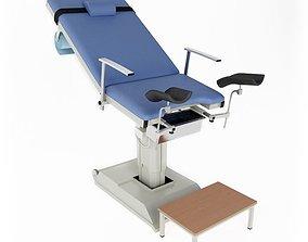 Blue Medical Examination Table 3D