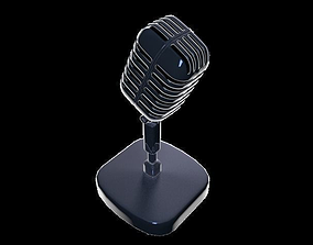 Retro microphone instrument 3D