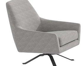 MKT Filmore Swivel Chair Charcoal 3D