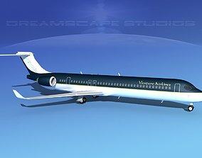 Comac ARJ21-900 Venture Airlines 3D model