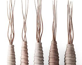3D Vase concrete branch decor n6
