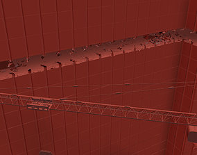 Crane Collapse Animation - 3D Model animated