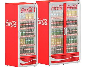 3D model Coca-cola coolers