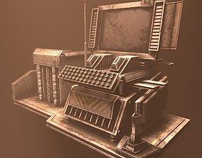 Rusty typewriter 3D model