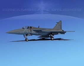 SAAB S39 Gripen Fighter V01 3D
