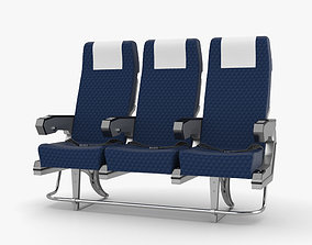 3D model Airplane Seats aeroplane