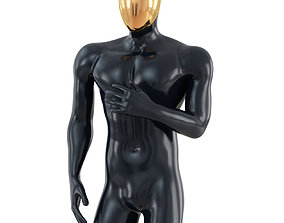 3D Male mannequin with gold head 96