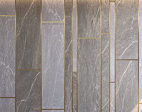 Marble Panel with Parquet 2 3D