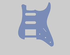 pickguard per chitarra mod ST H-S-S 3D print model