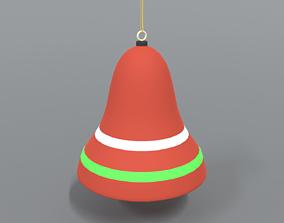 Cartoon Christmas Bell 3D model