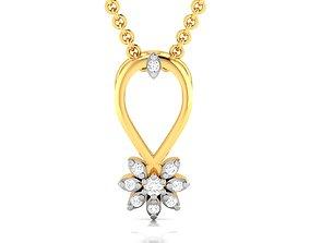 luxury jewellery Women pendant 3dm render detail