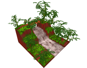 Cachoeira LowPoly 3D model