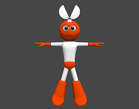 3D cutman rigged animated realtime